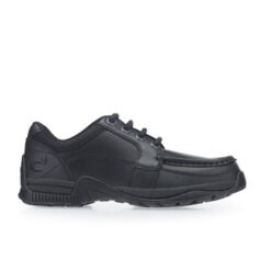 Black Leather Boys Lace-up School Shoes