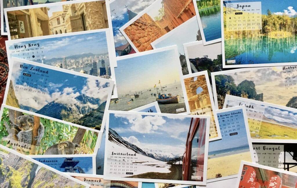 What is a Postcard calendar?
