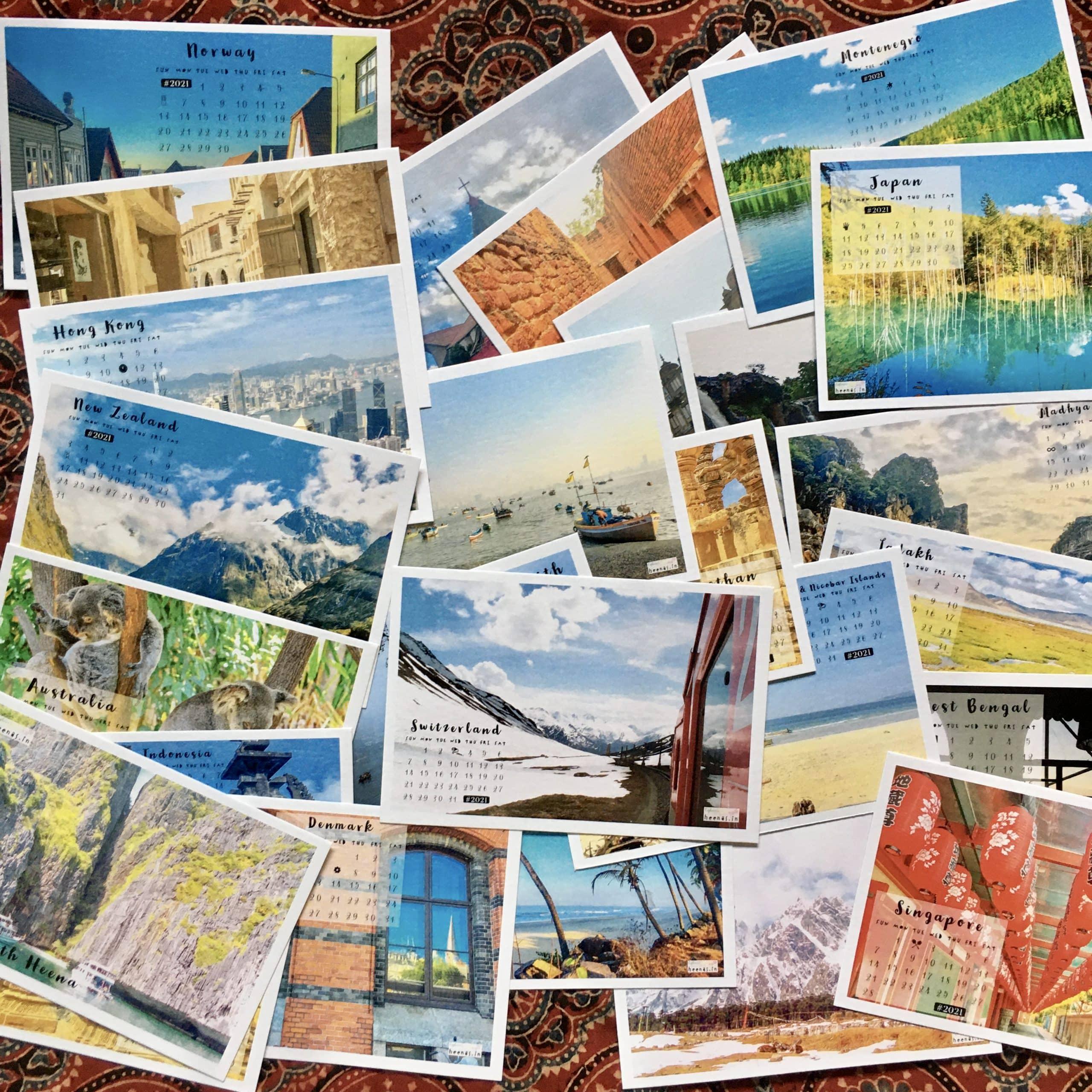 Postcard Calendars by heena