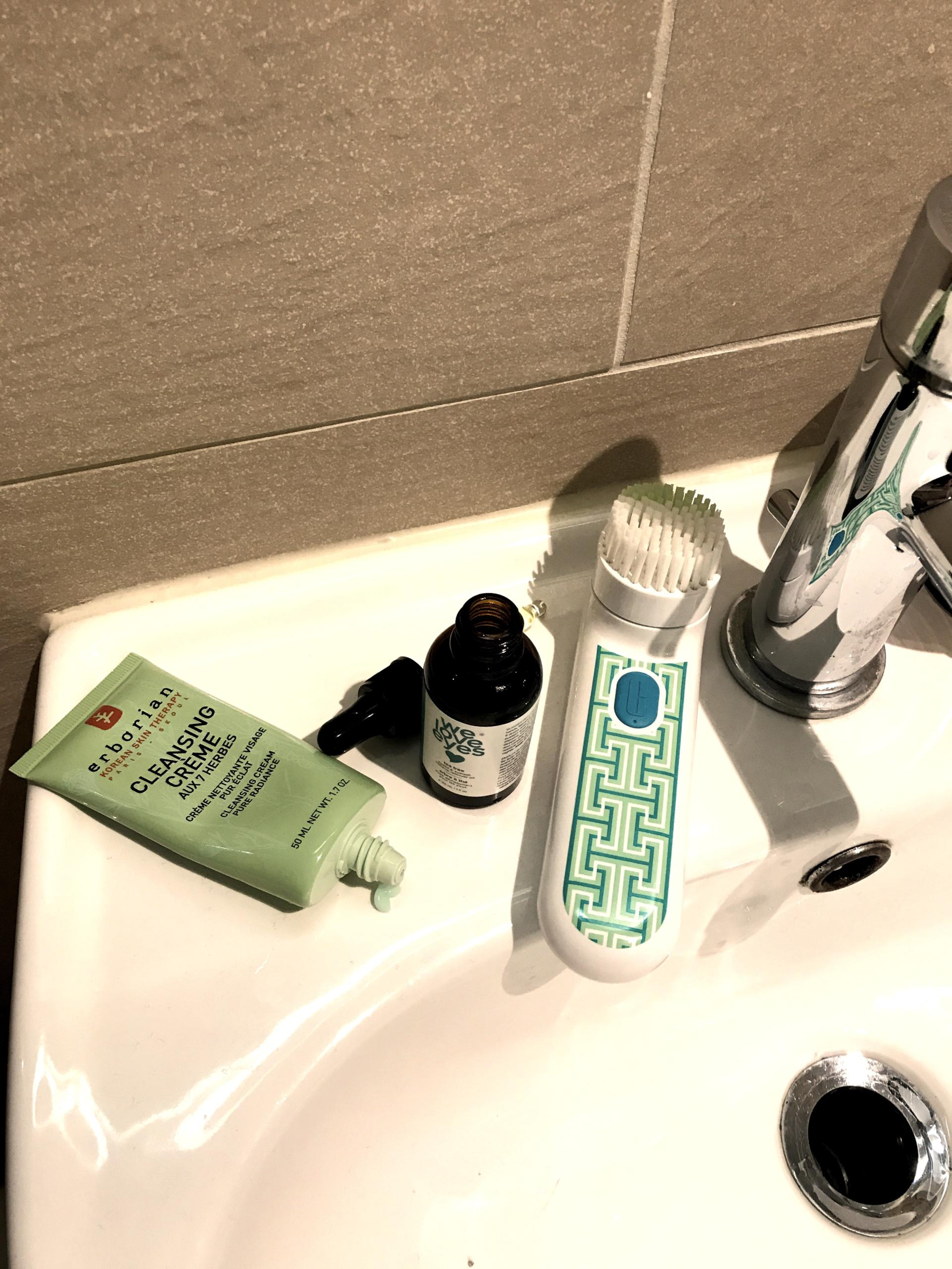 pm sensitive skin cleansing routine