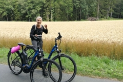 Radfahren in der Gegend