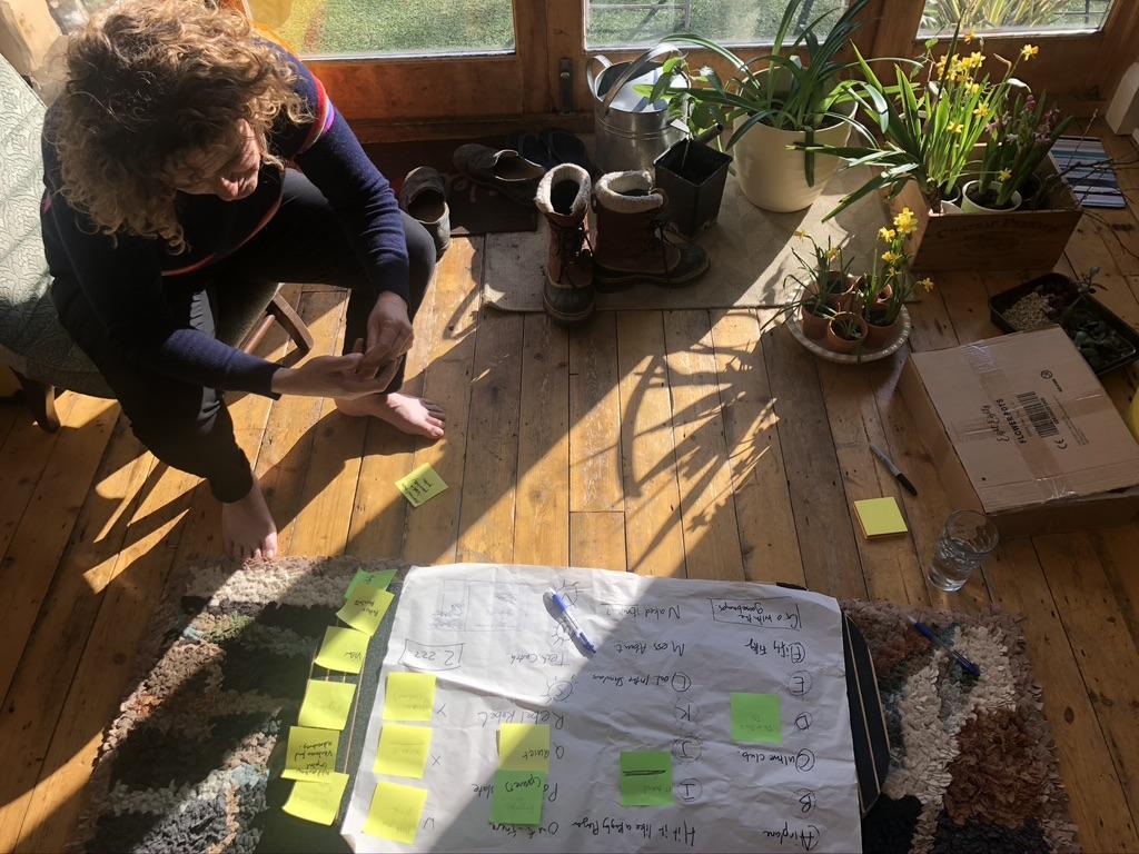 JP in her work habitat