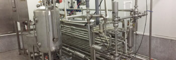 Flash pasteuriser at Dragon's Garden