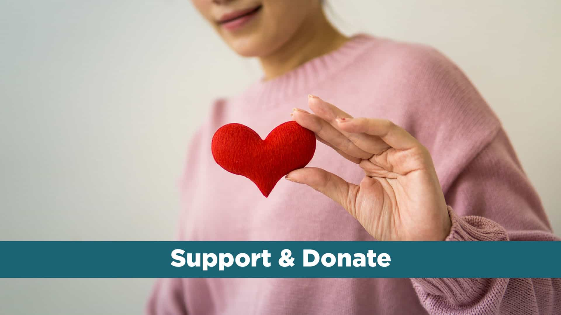 support and donate