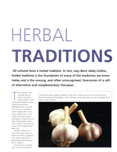 article - Herbal Traditions - 1