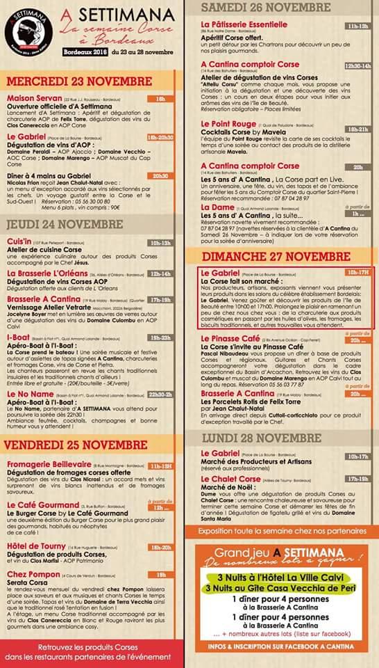 Descubre la A Settimana Corse de Bordeaux