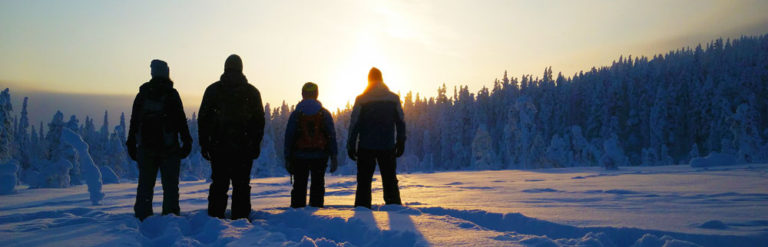 Snowshoe safaris...
