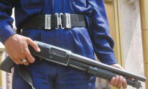 security guard in blue uniform