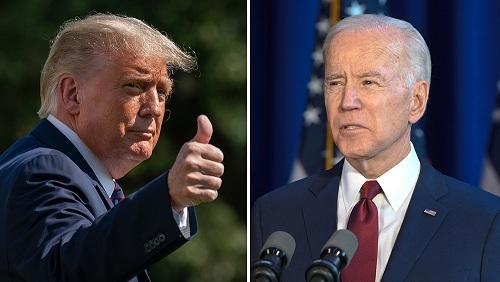 Trump Biden ڈونلڈ ٹرمپ بَہ مقابلہ جو بائیڈن