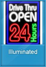 Indoor illuminated signs