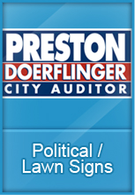 Political and lawn signs
