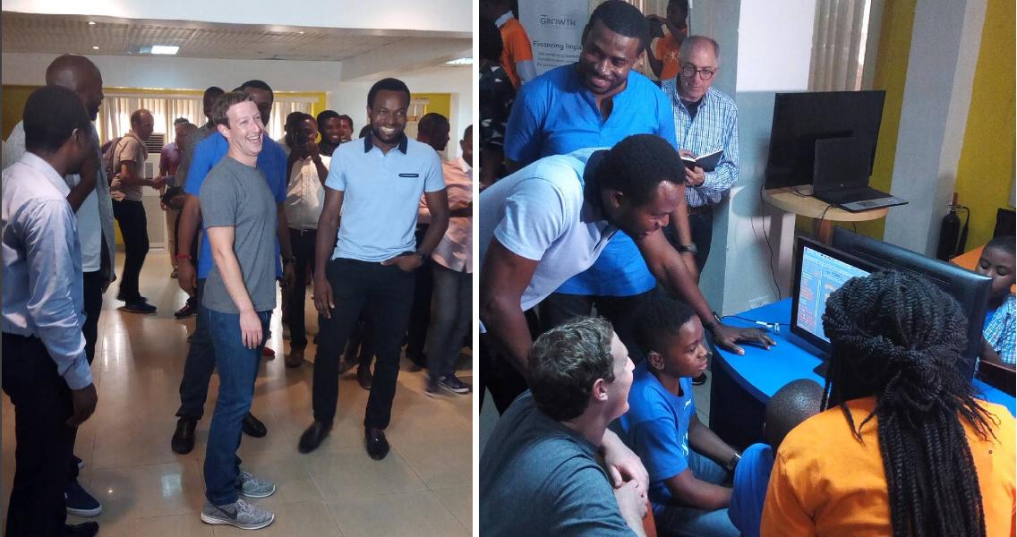 Photo of Facebook Founder, Mark Zuckerberg in Lagos