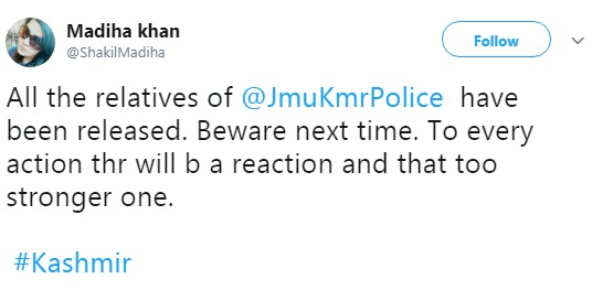 ISI twitter handle enticing violence in Kashmir