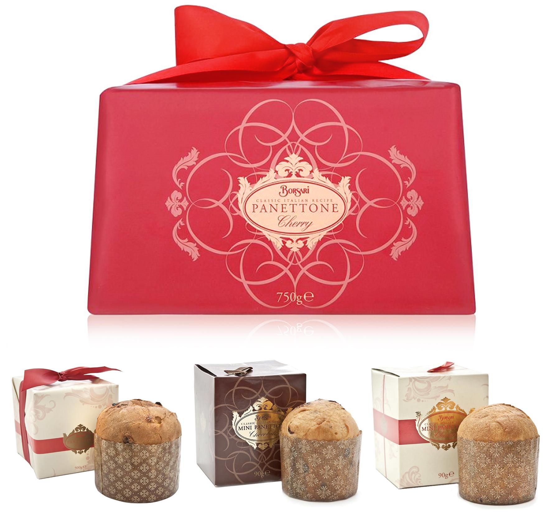 Borsari Panettone range packaging