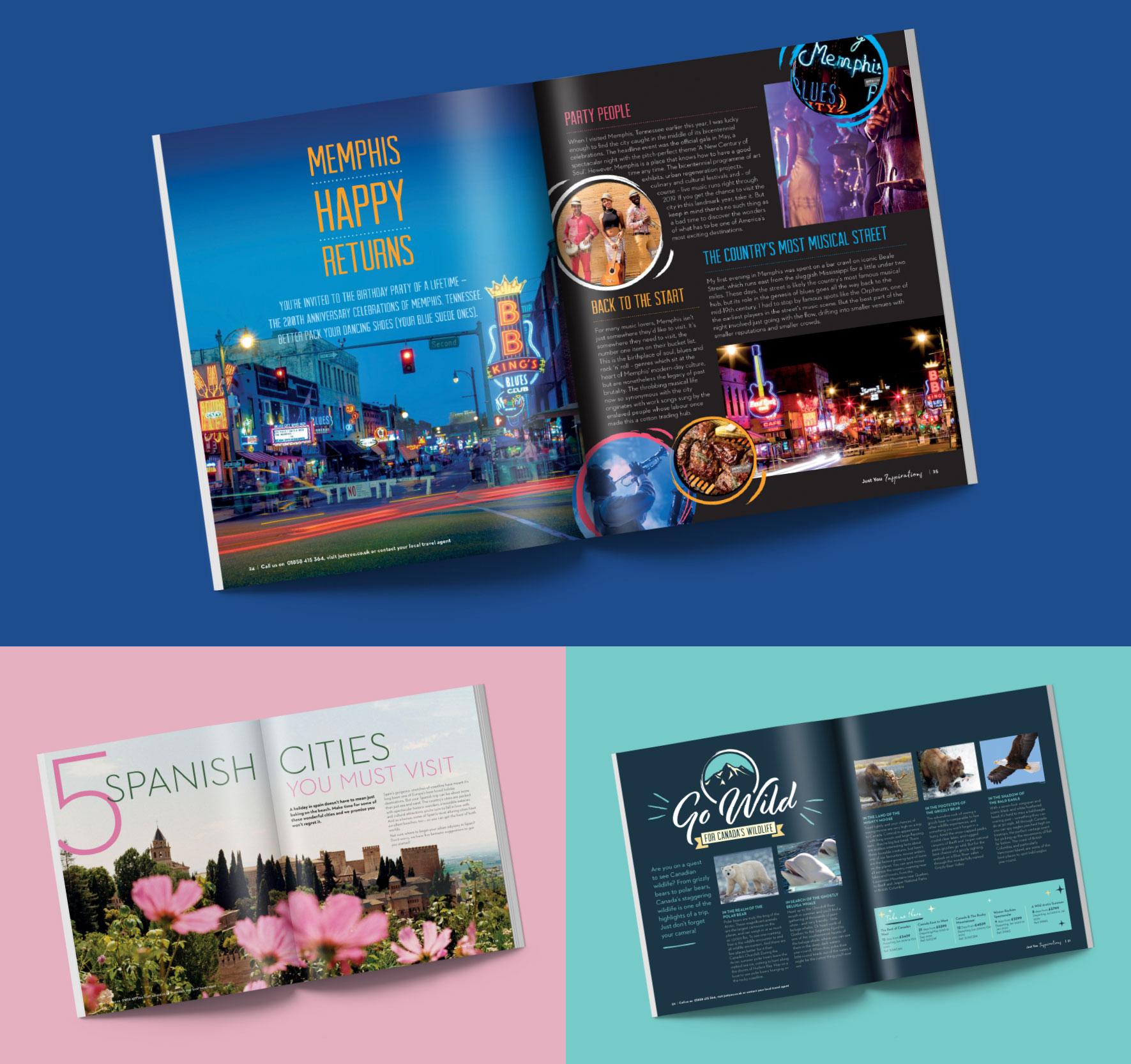 Just Us Travel brochure