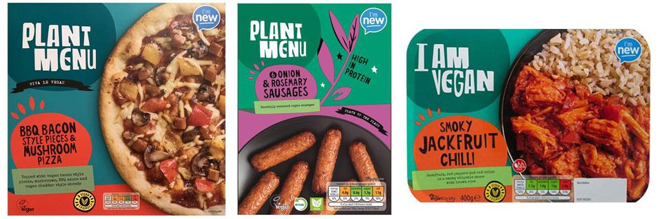 Aldi plant based food packaging design