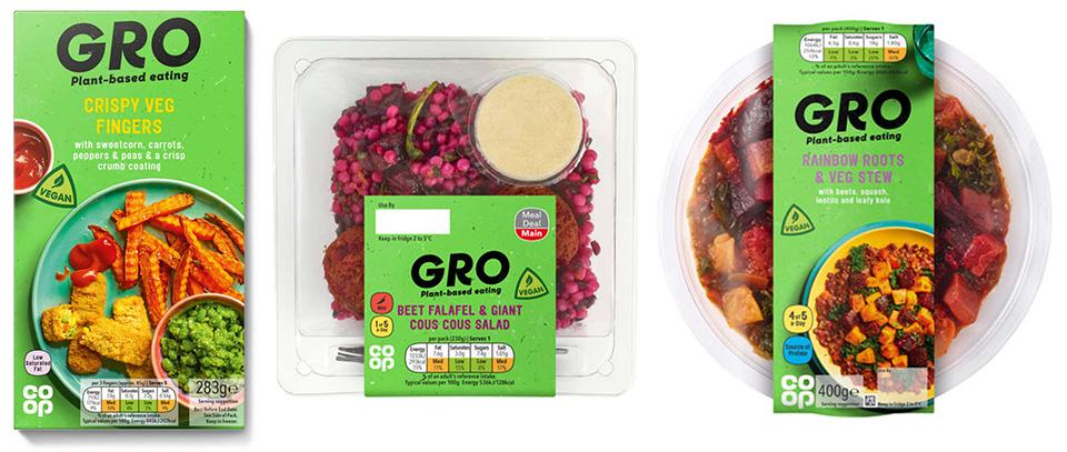 Coop Plant based food packaging design