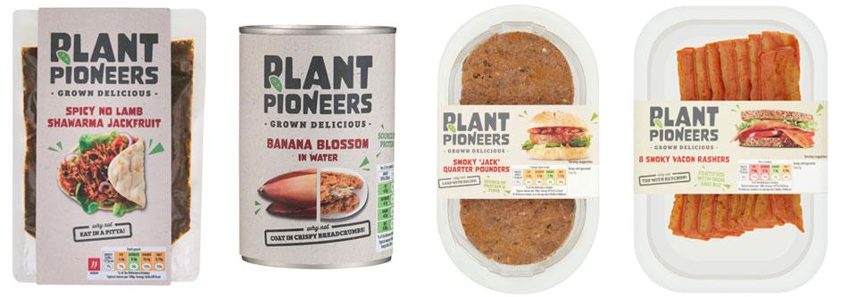 Sainsbury's plant based food packaging design