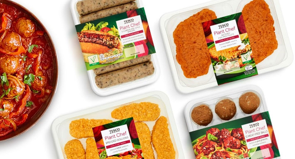 Tesco plant based food range