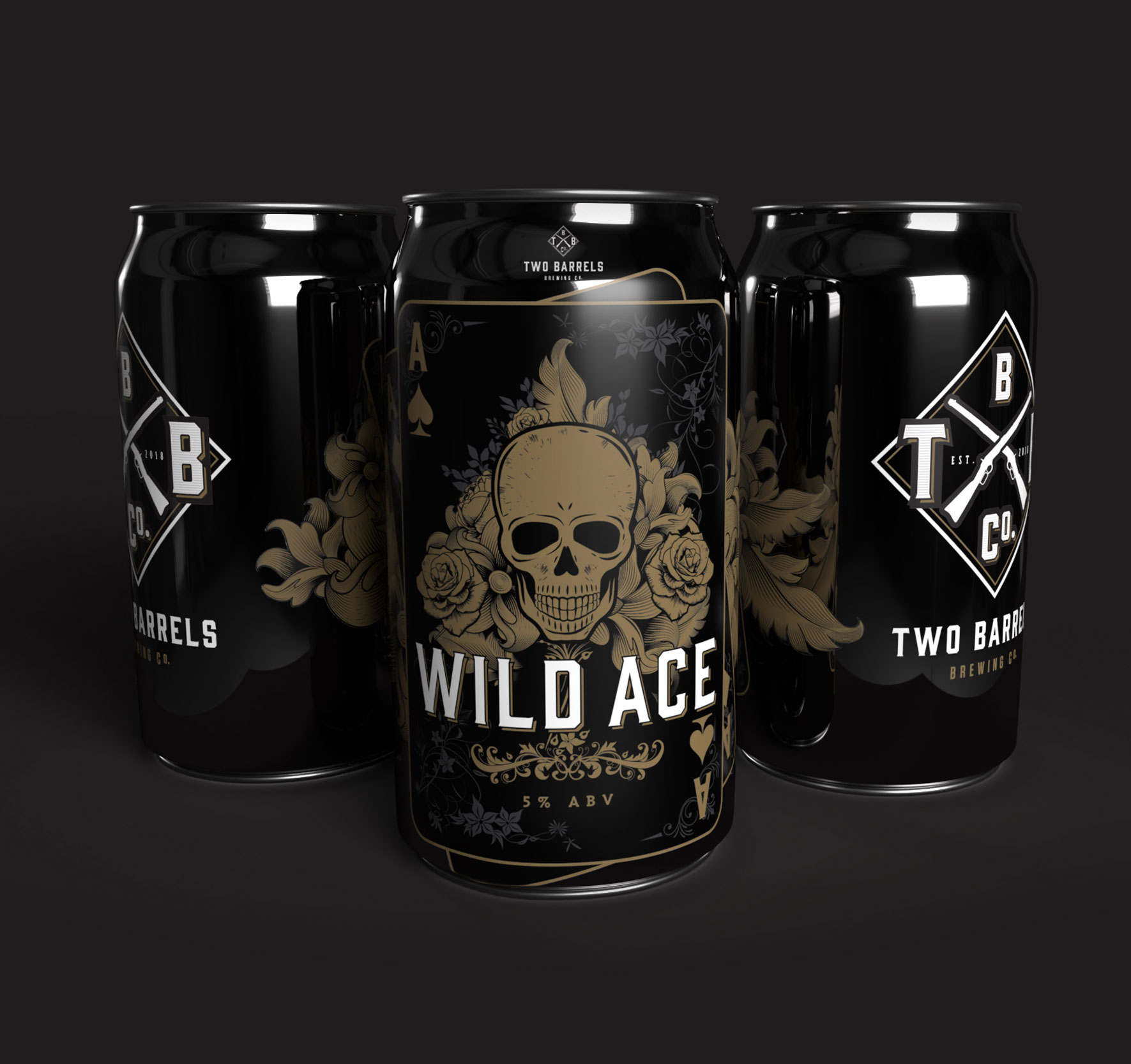 Two Barrels Wild Ace Craft Beer cans