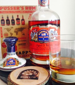 Pussers 15 Years Nelsons Blood review by the fat rum pirate