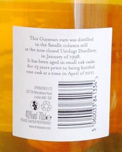 Mezan Guyana Rum - Uitvluigt 1998 review by the fat rum pirate