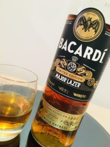Bacardi Major Lazer Limited Edition rum review by the fat rum pirate