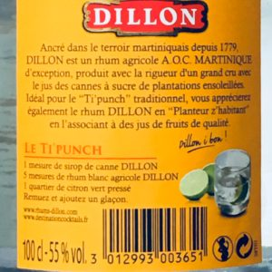 Dillon Rhum Agricole Blanc rum review by the fat rum pirate