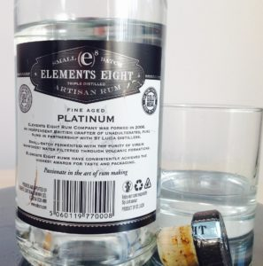 Elements Eight Fine Aged Platinum Rum Review by the fat rum pirate
