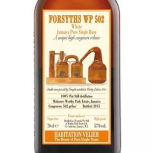 Habitation Velier Forsyths Worthy Park Rum Review by the fat rum pirate