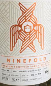 Ninefold Distillery Barrel Aged Pure Single Rum - Release #1