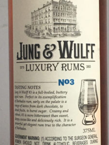 Jung & Wulff Luxury Rums No 3 Barbados rum review by the fat rum pirate