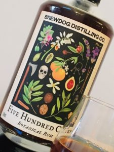 Brewdog Distilling Co. Five Hundred Cuts Botanical Rum Review by the fat rum pirate