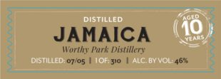 KIll Devil Jamaica Worthy Park 10 Year Rum Review by the fat rum pirate