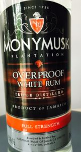 Monymusk Overproof White Rum Review by the fat rum pirate