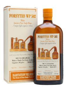 Habitation Velier WP 502 Forsyths White Rum Review by the fat rum pirate Worthy Park