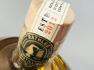Rathlee Distilling Co Golden Barrel Aged Rum Aged 3 Years Rum Review by the fat rum pirate