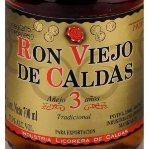 Ron Viejo de Caldas 3 year Old Anos rum review by the fat rum pirate