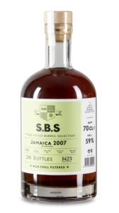 S.B.S 1423 Single Barrel Selection Jamaica 2007 Rum review by the fat rum pirate