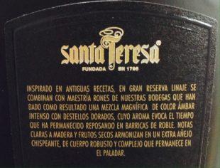 Santa Teresa Linaje Rum Review by the fat rum pirate