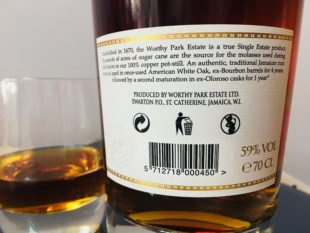 Worthy Park Special Cask Release Oloroso Rum Review by the fat rum pirate