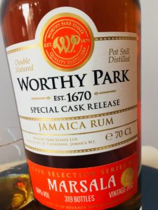 Worthy Park Marsala Special Cask Release Rum Review by the fat rum pirate