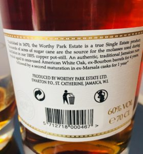 Worthy Park Marsala Special Cask Releasse Rum Review by the fat rum pirate