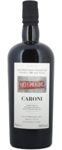 Velier Caroni No Smoking 16 Years rum review by the fat rum pirate