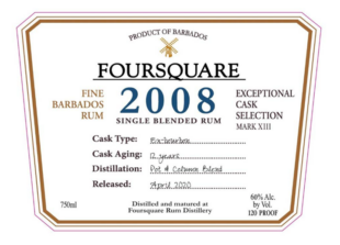 Foursquare Rum Distillery 2008 Rum Review by the fat rum pirate