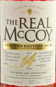 The Real McCoy Aged 14 Years Limited Edition Rum review by the fat rum pirate