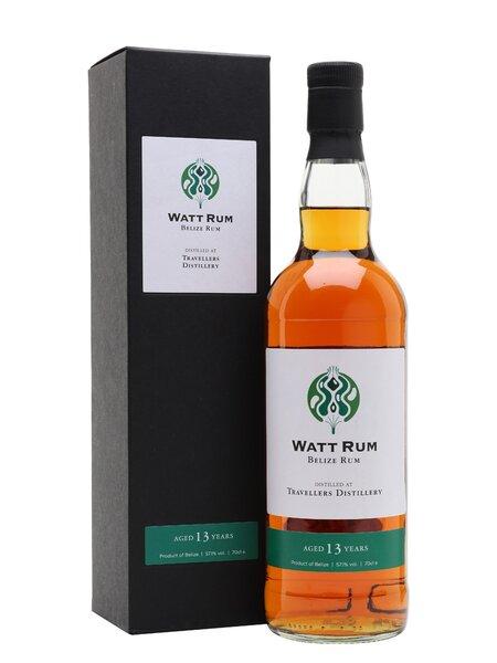 Watt Rum Belize Rum Distilled at Travellers Distillery Aged 13 Years rum review by the fat rum pirate
