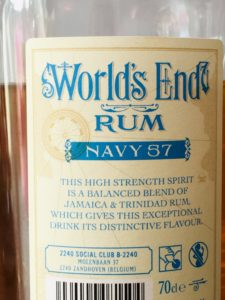 World's End Rum Navy 57 rum review by the fat rum pirate