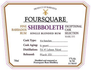Foursquare Rum Distillery Shibboleth rum review by the fat rum pirate