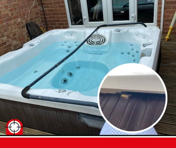 Wasp Nest removal Chesterfield - Wasp nest in North Wingfield Jacuzzi - Pest Controllers